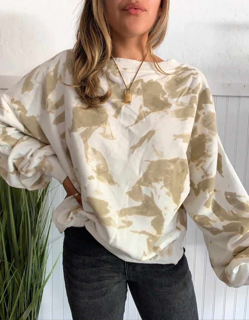Fog Cross Sweater (Tan)
