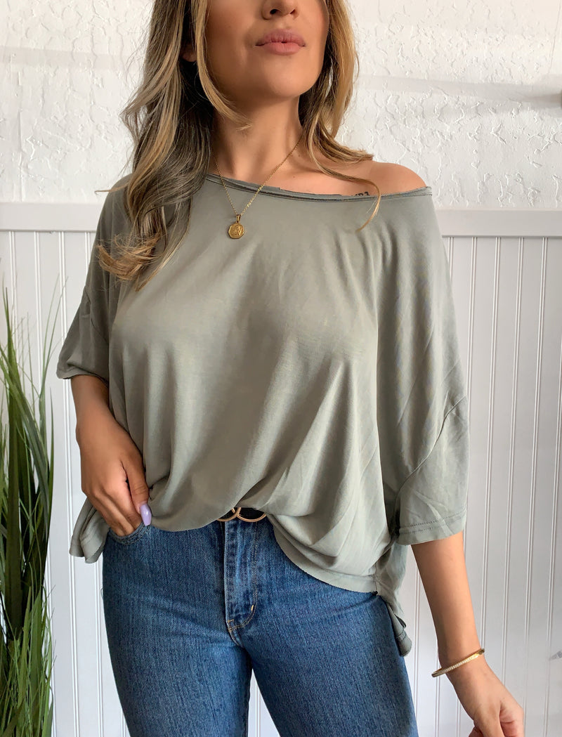 Relaxed Knit Top (Sage)