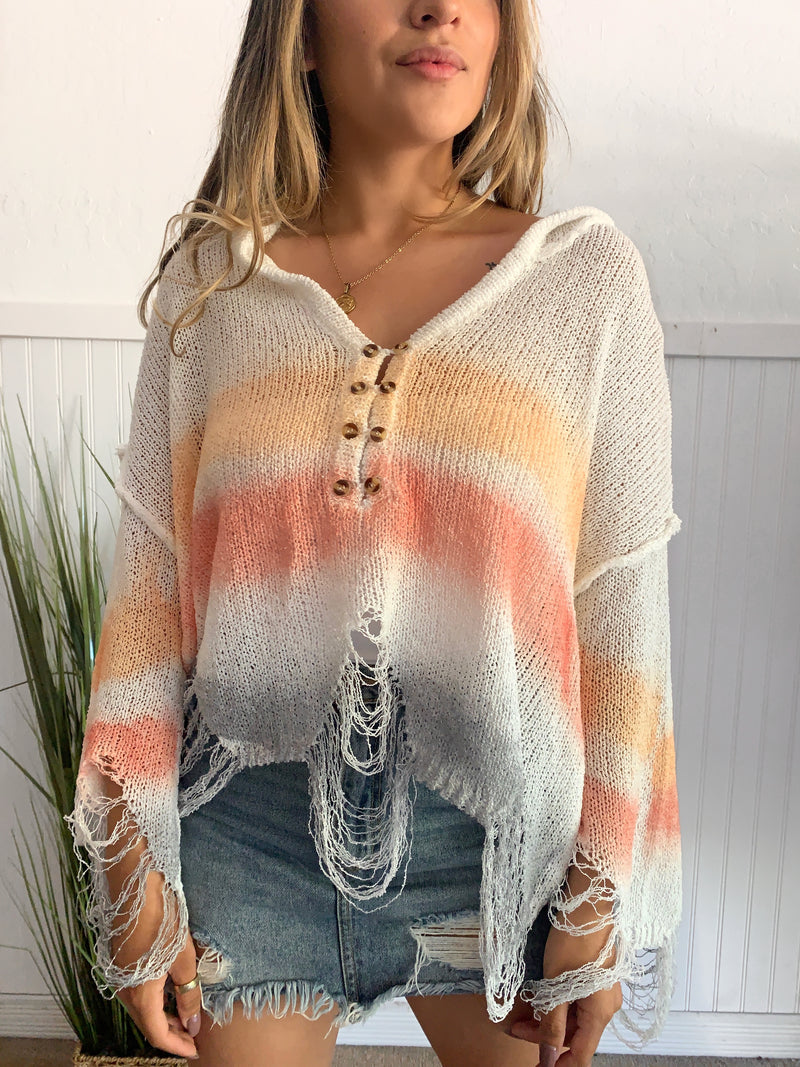 Rainbow Knit Sweater