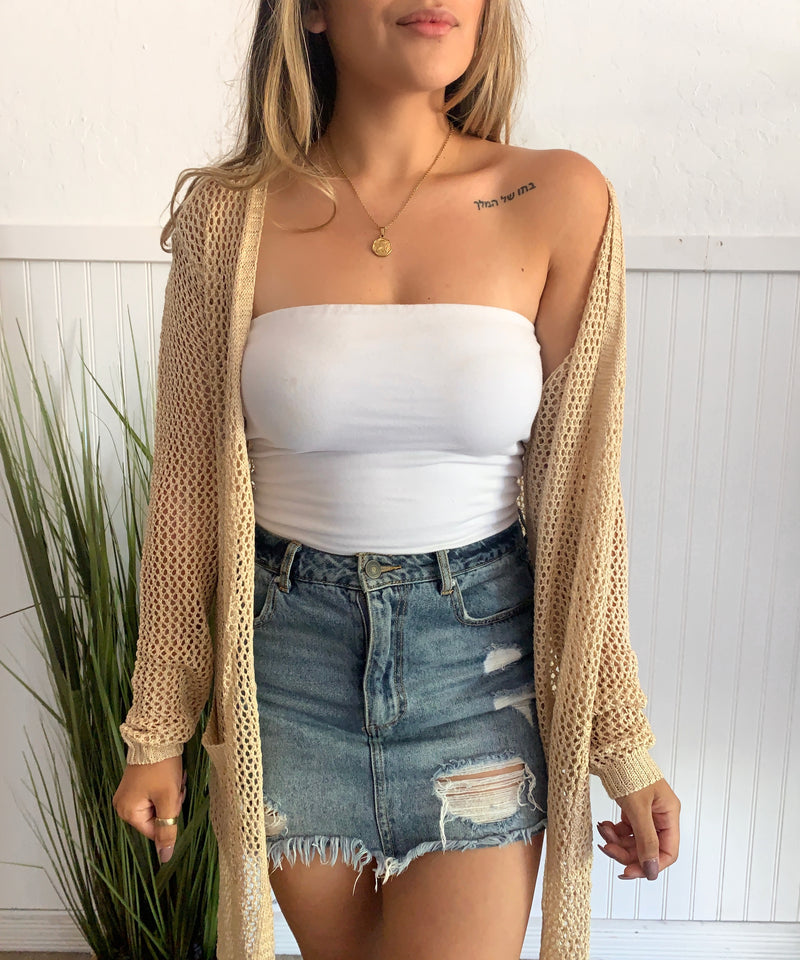 Fishnet Cardigan (Natural)
