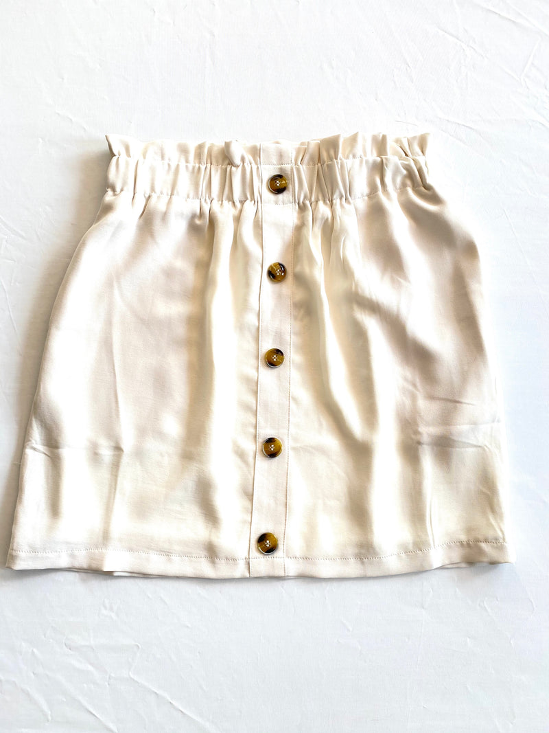 White Button Skirt