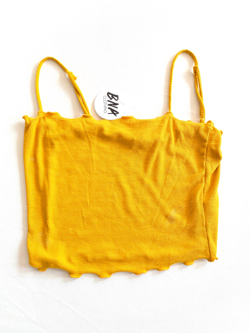 Ruffle Basic Cropped Tank
