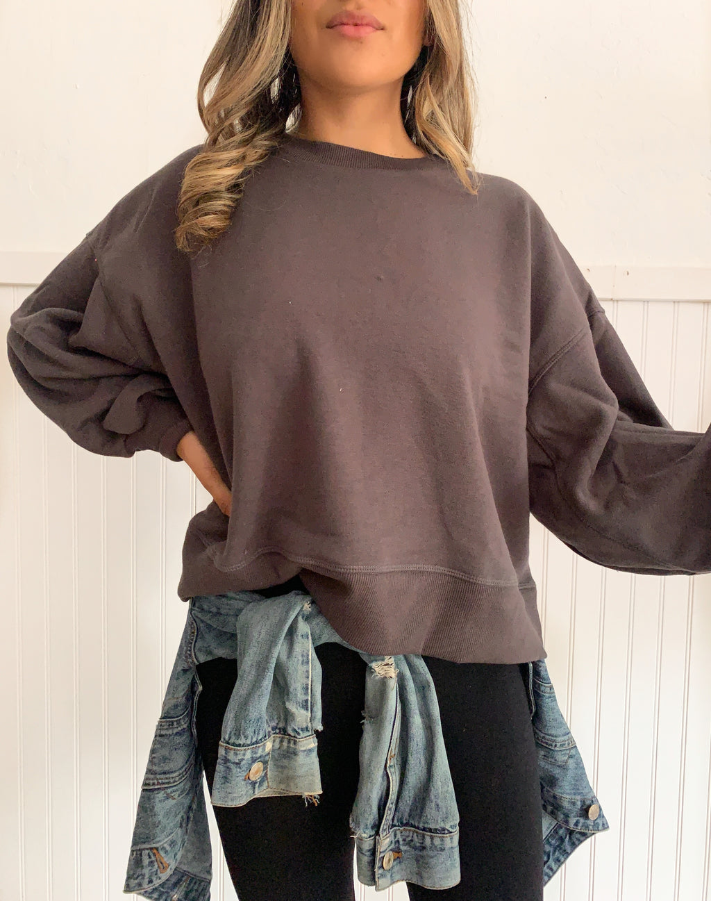Layla Sweatshirt (Ash Grey)