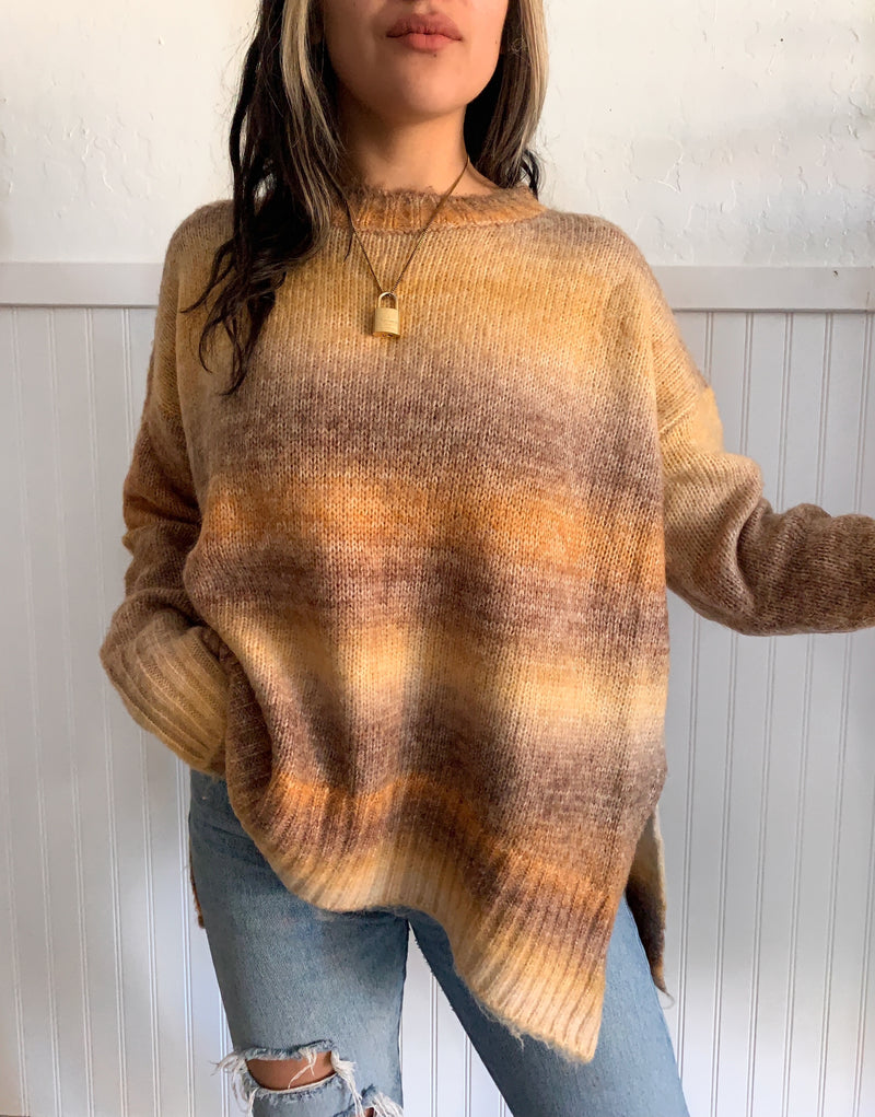 Multi Stripe Sweater (Rust)