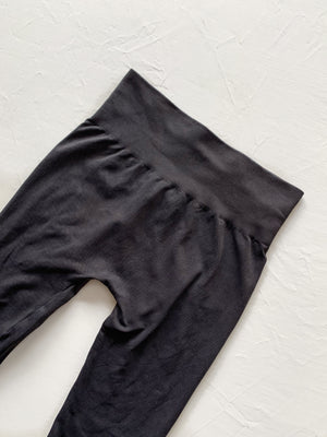Vintage High Rise Legging (Black)