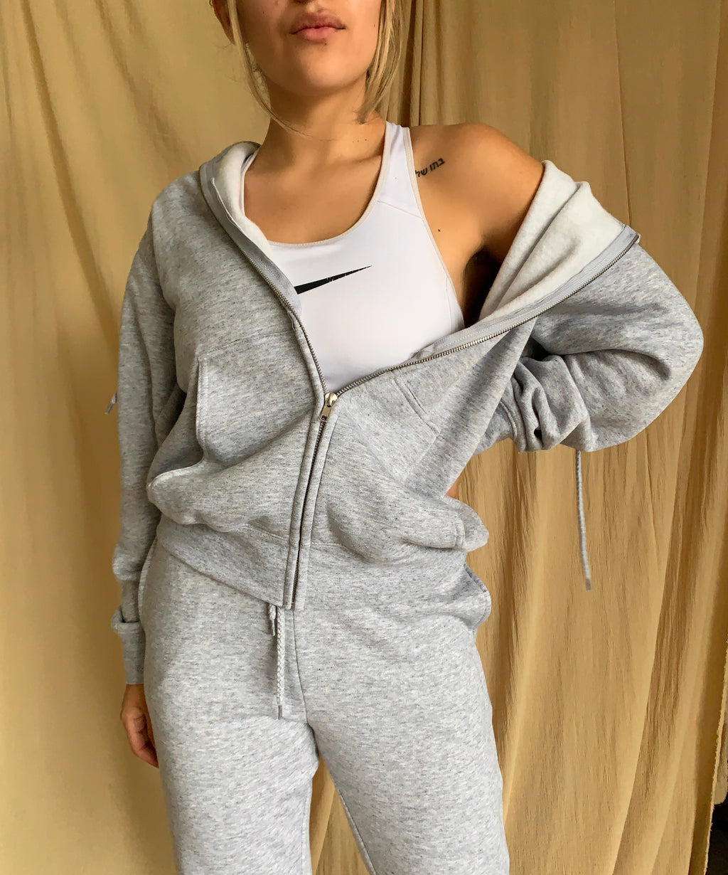Boyfriend Zip Jacket (Lt. Grey)