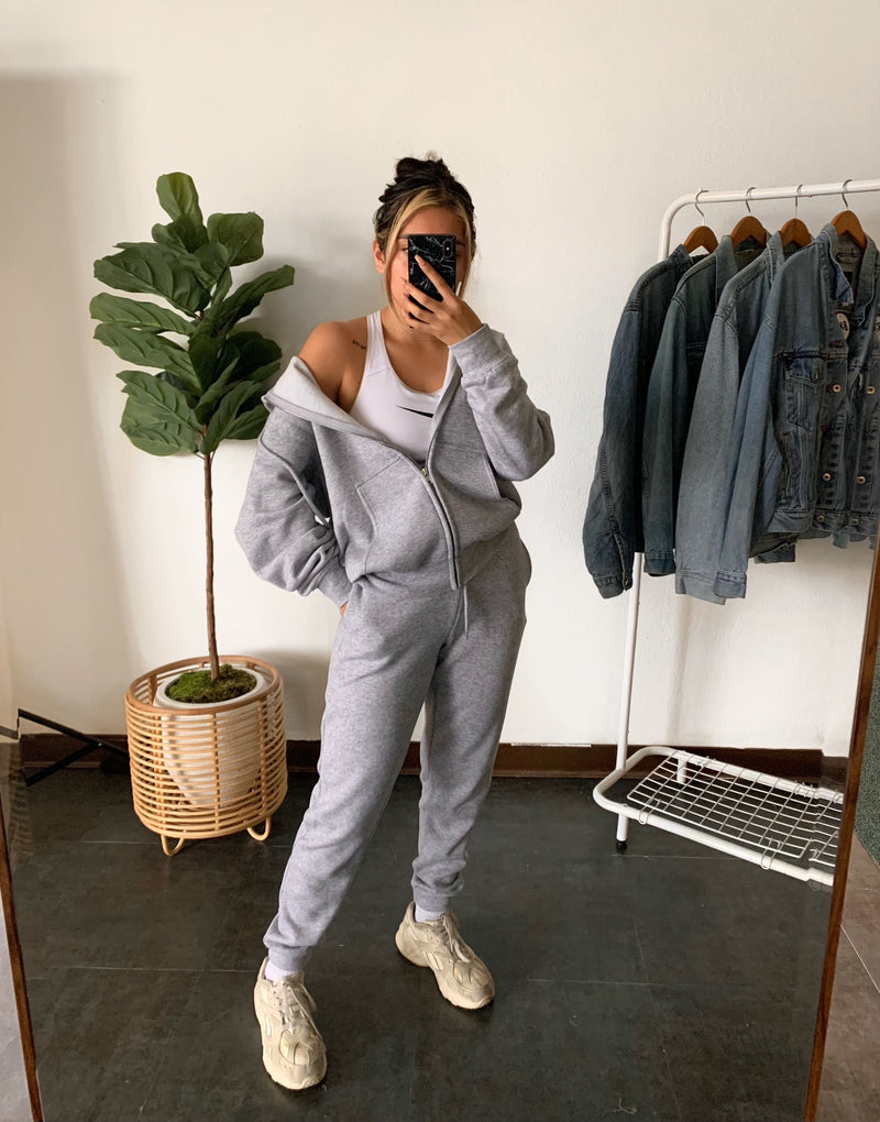 Boyfriend Jogger Pants (Lt. Grey)