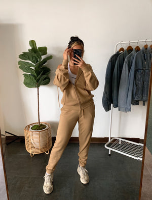 Boyfriend Jogger Pants (Tan)