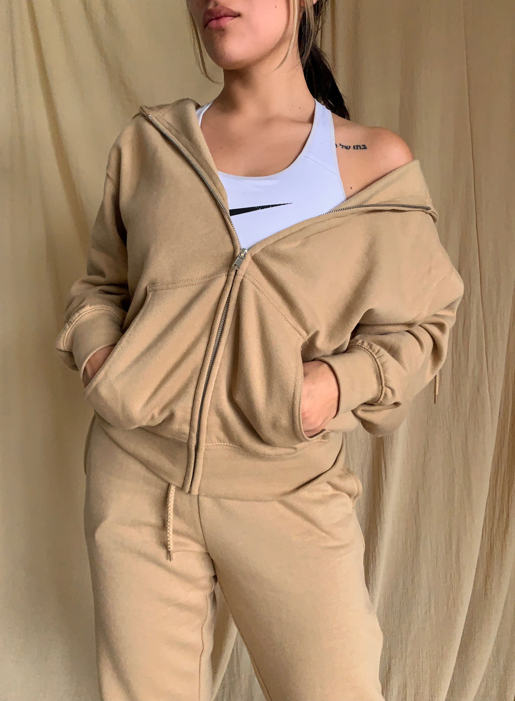 Boyfriend Zip Jacket (Tan)