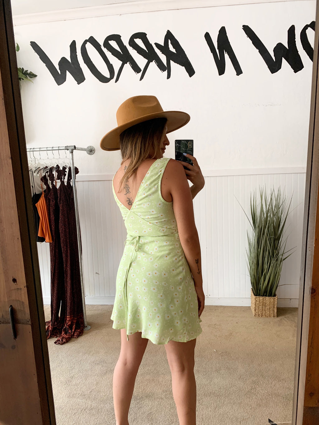 Lime Daisy Dress