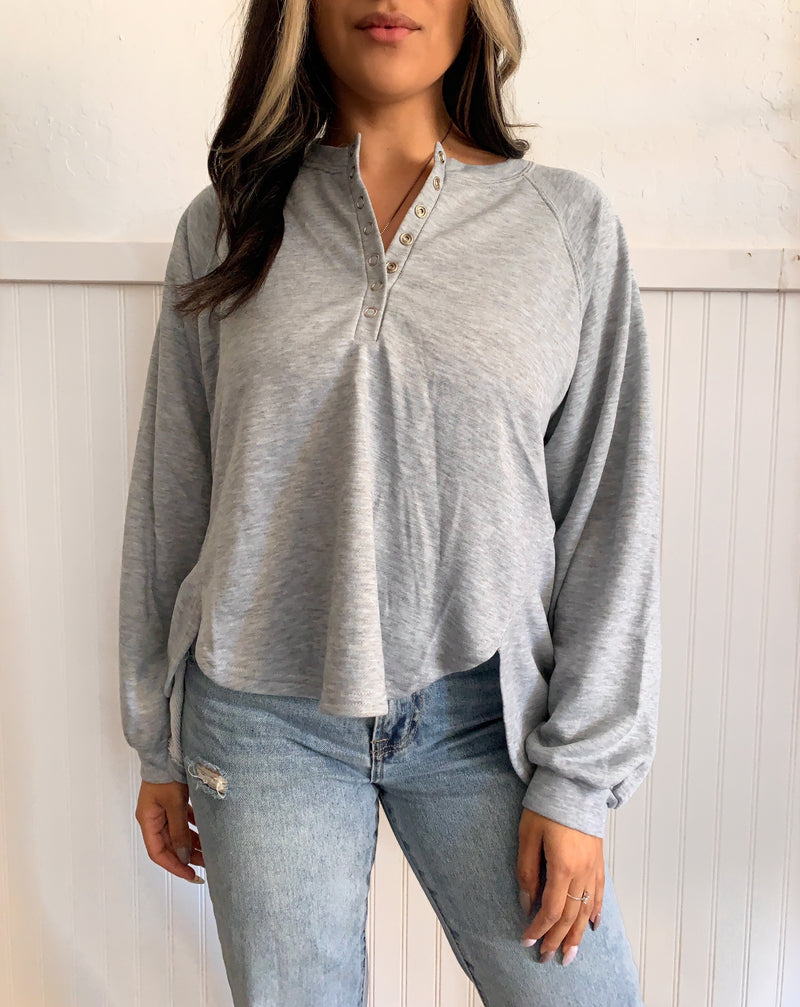 Button Long Sleeve (Grey)