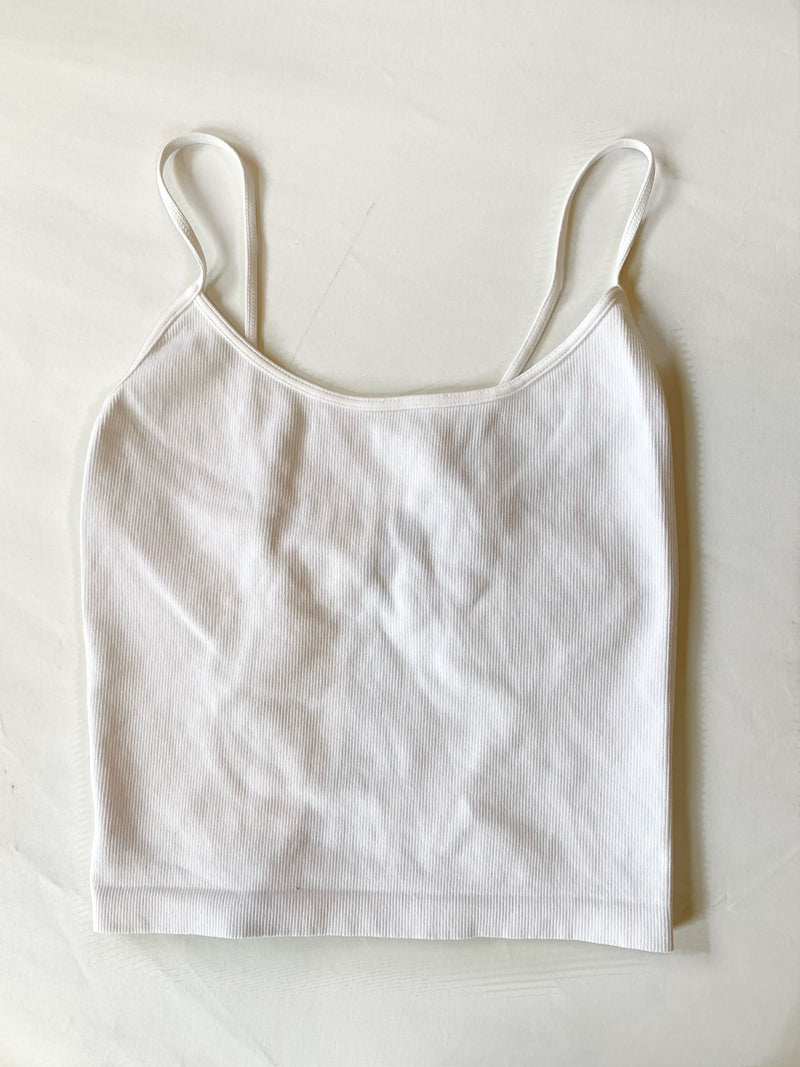 Low Back Tank (White)