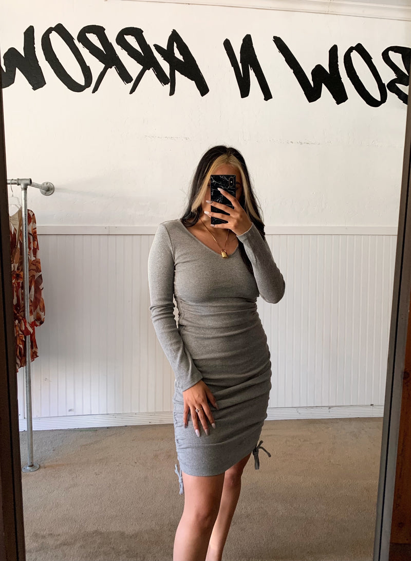 Hold Me Knit Dress (Grey)