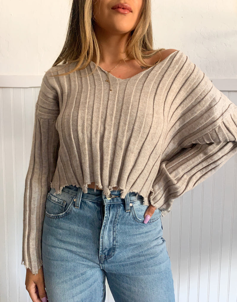 Distressed Sweater (Grey)
