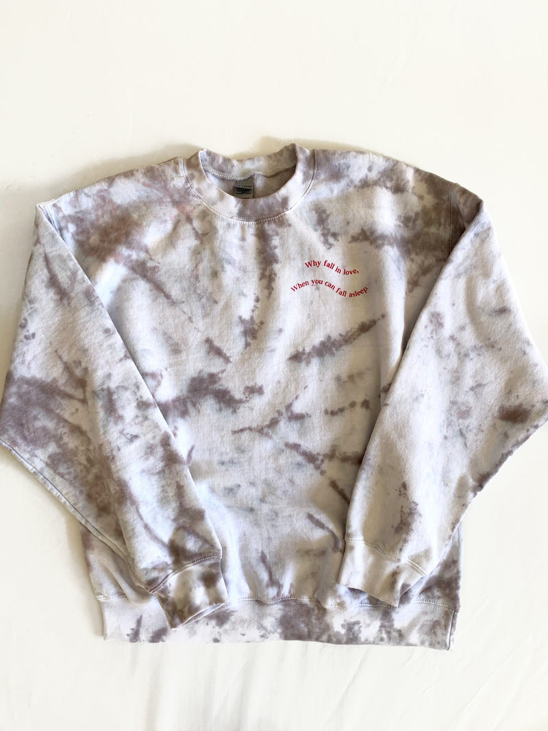 Fall In Love Sweatshirt (Tie Dye)