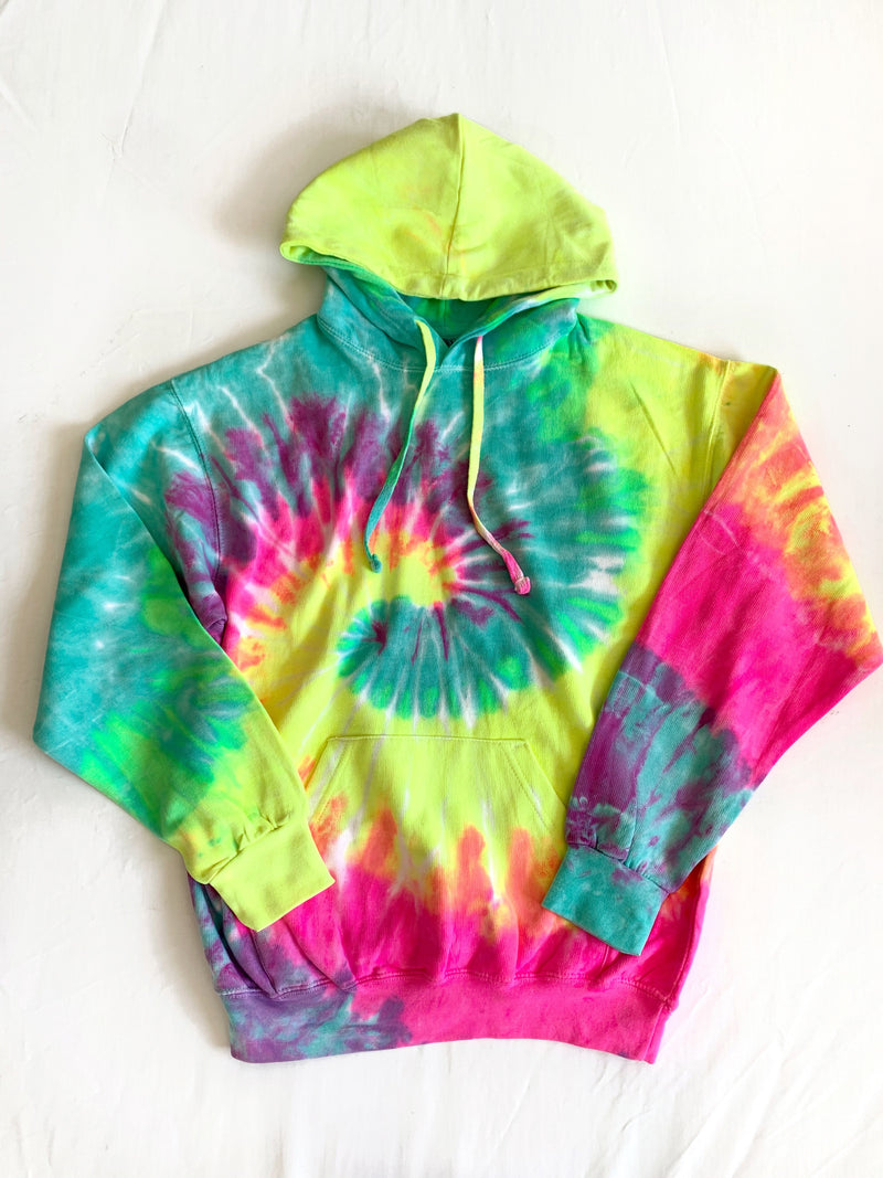 Good Vibe Hoodie (Pink/Turquoise)