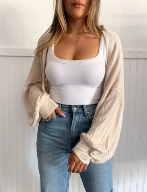 Shrug Cardigan (Oatmeal)