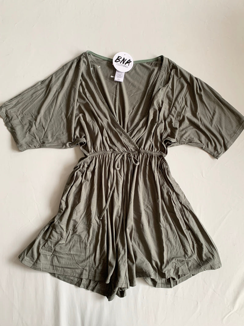 Side Cut Romper (Olive)