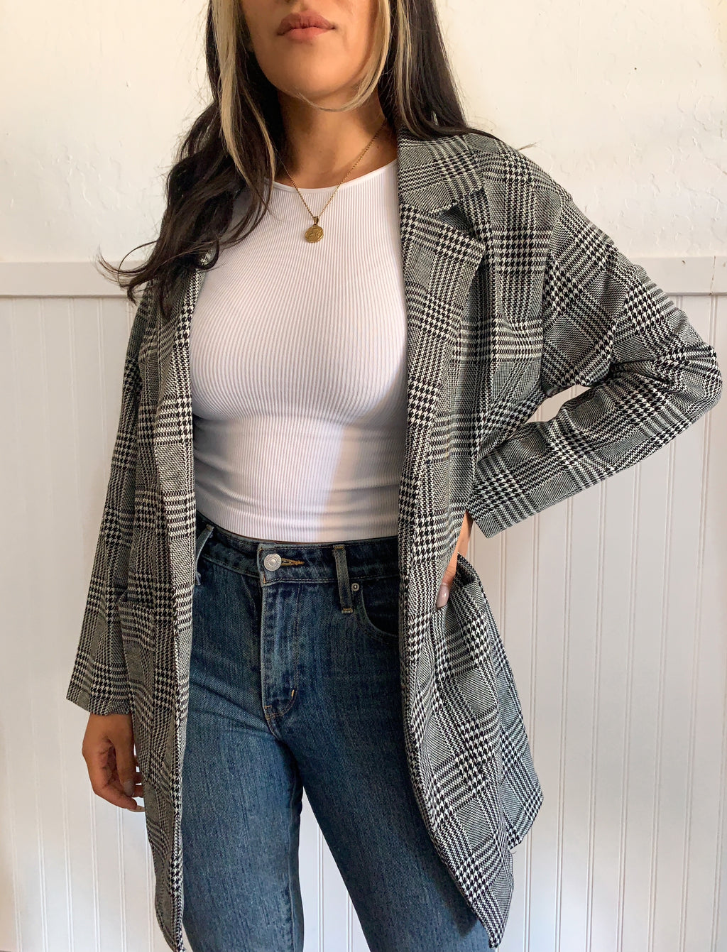 Melrose Plaid Coat