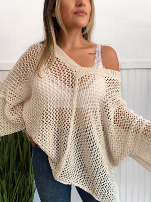 Fishnet Oversize Sweater