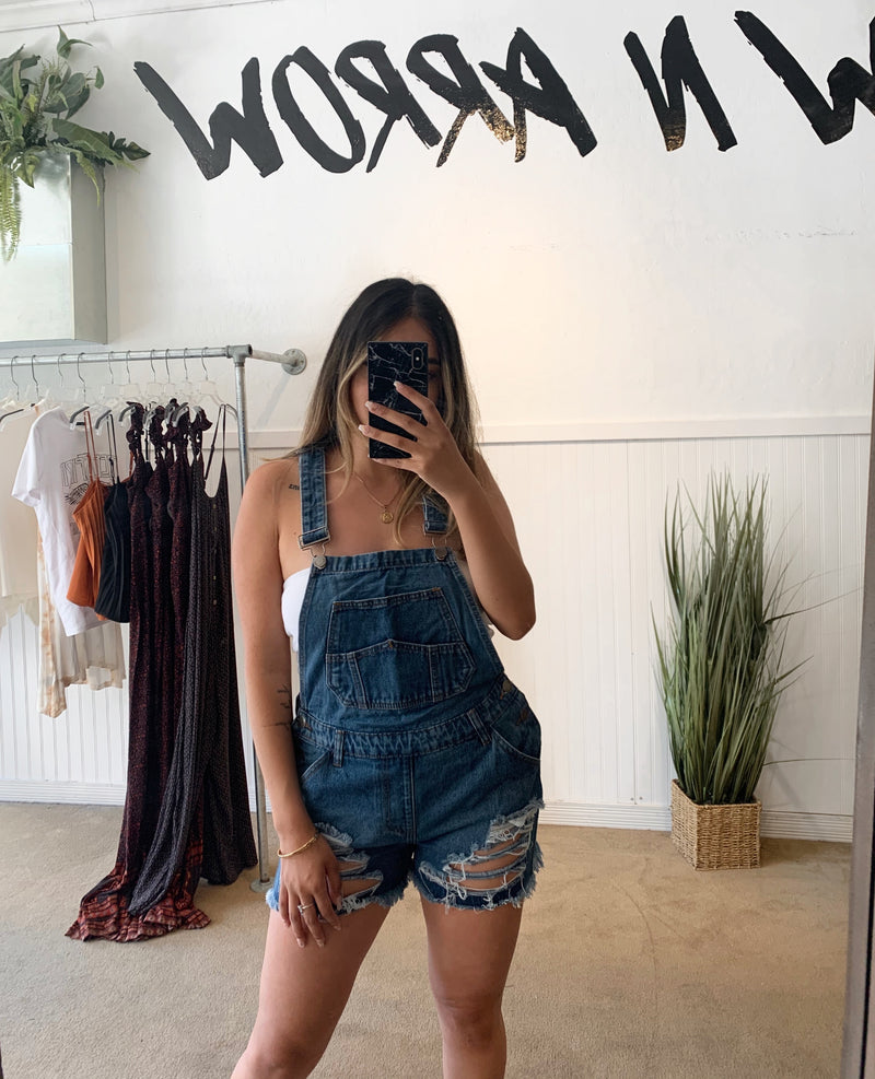 Courtney Overalls (Dark Wash)