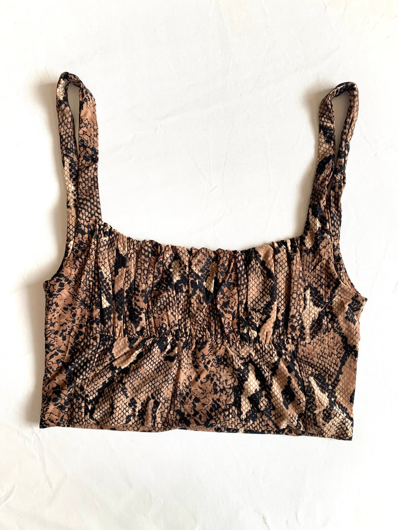 Bri Crop Top (Snake)