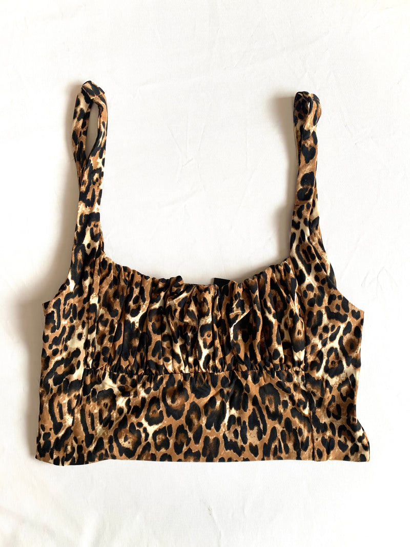 Bri Crop Top (Cheetah)