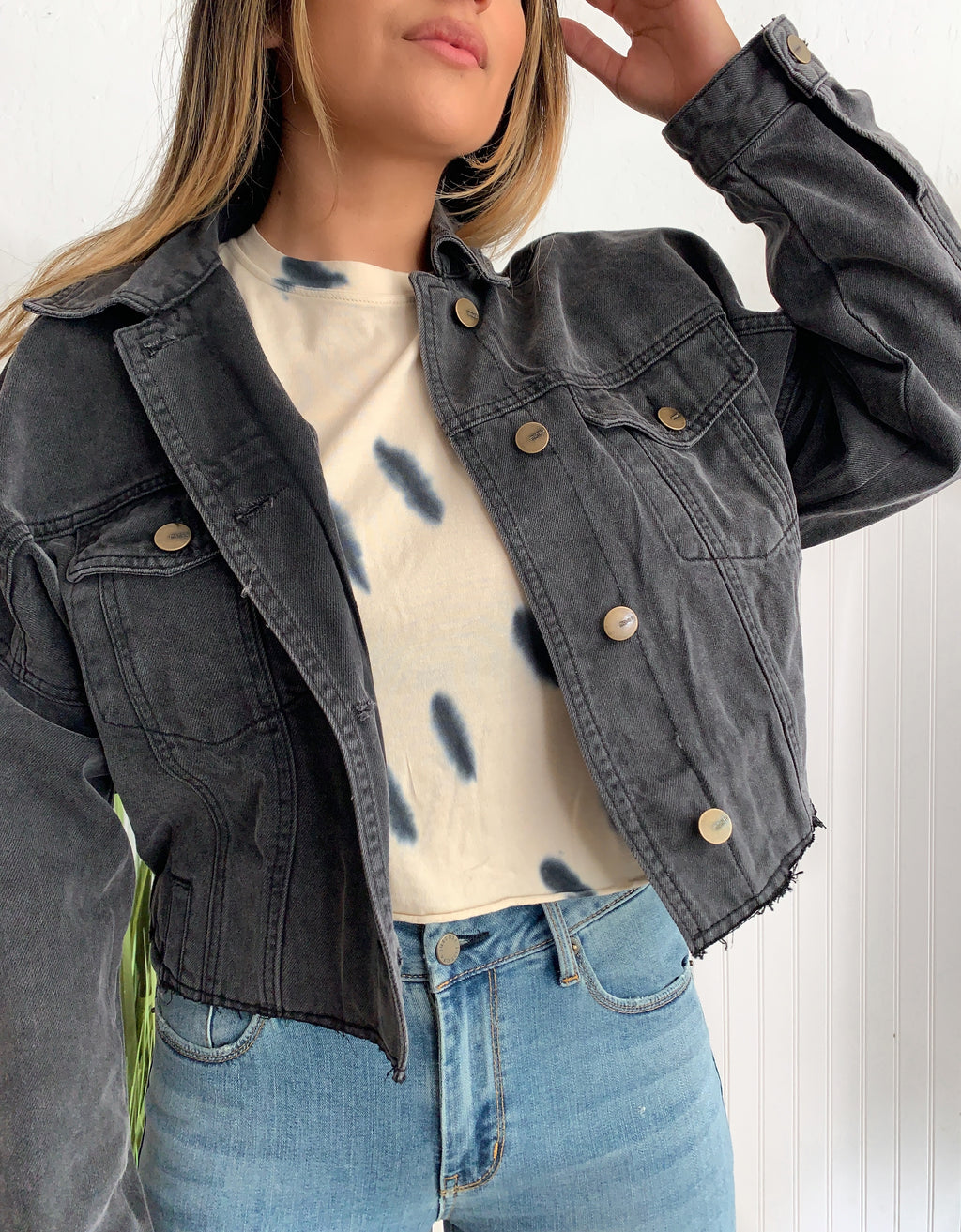 Taylor Charcoal Denim Jacket