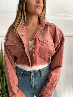 Kendal Corduroy Jacket (Rose)