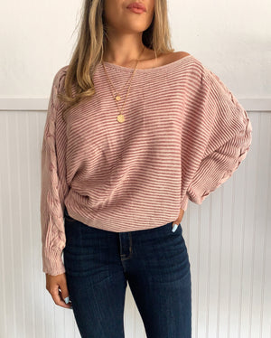 Washed Knit Sweater (Pink)