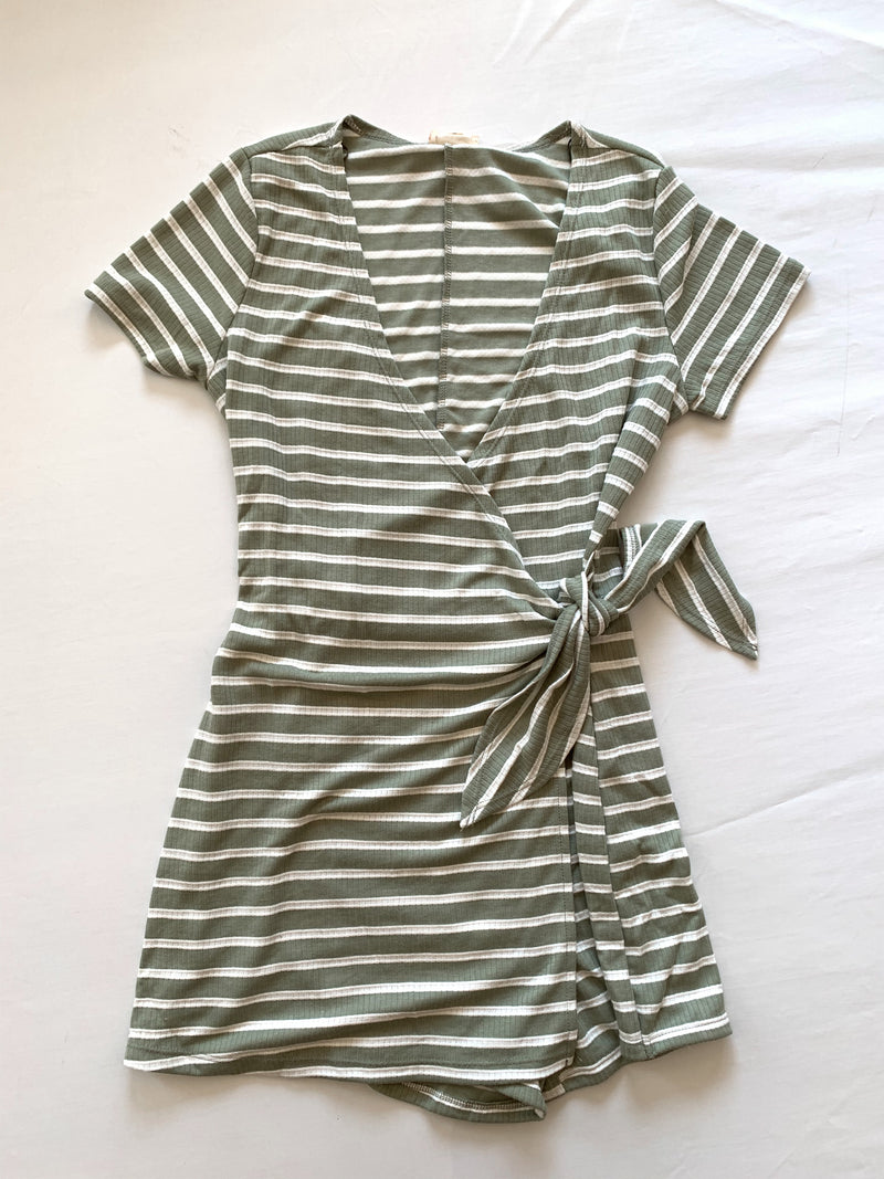 Stripe Wrap Romper