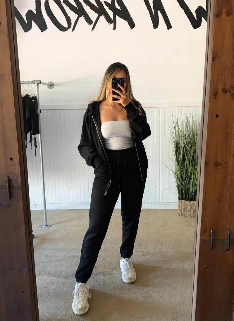 Boyfriend Jogger Pants (Black)