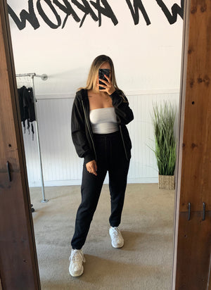 Boyfriend Zip Jacket (Black)