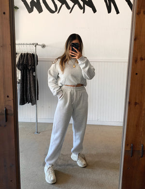 Jet Set Sweatpants (Lt Grey)