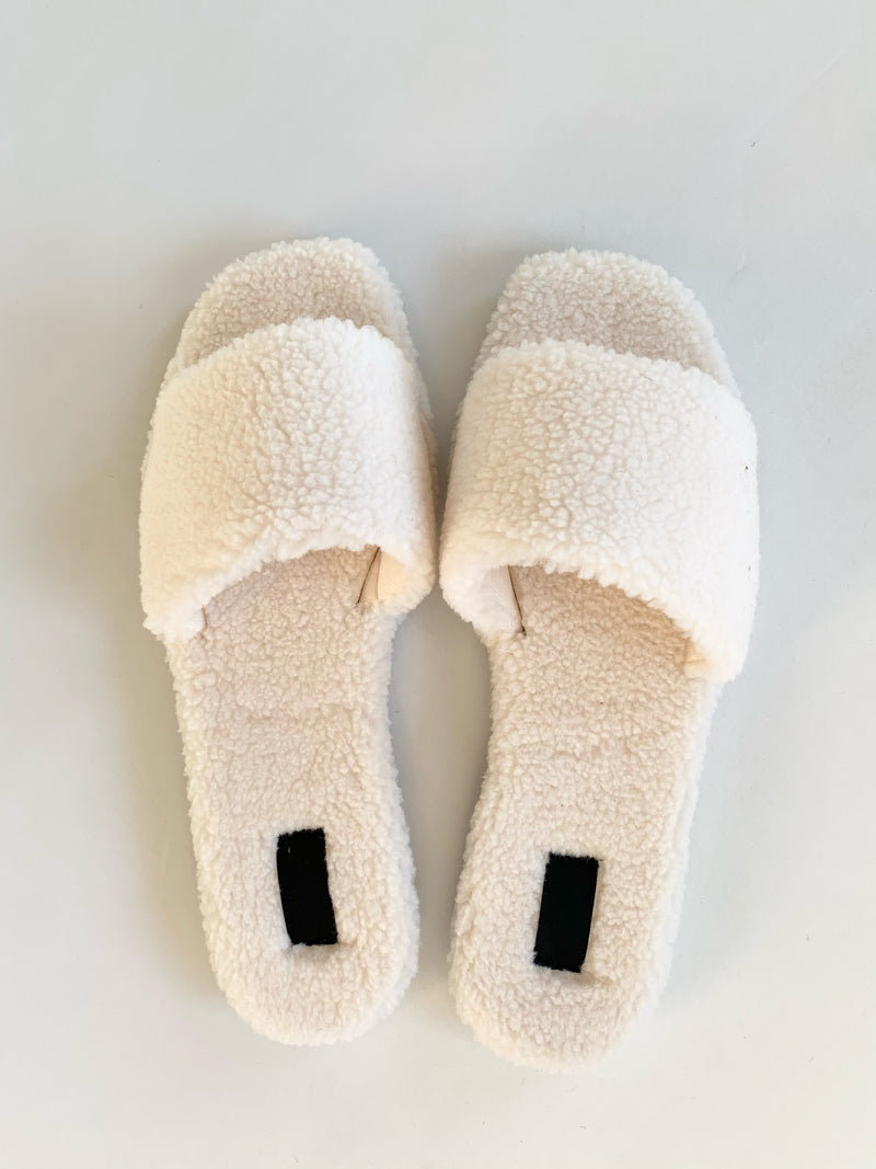 Teddy Slippers (Ivory)