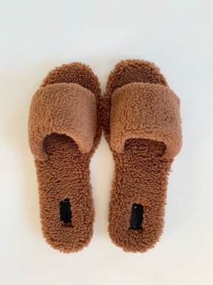 Teddy Slippers (Brown)
