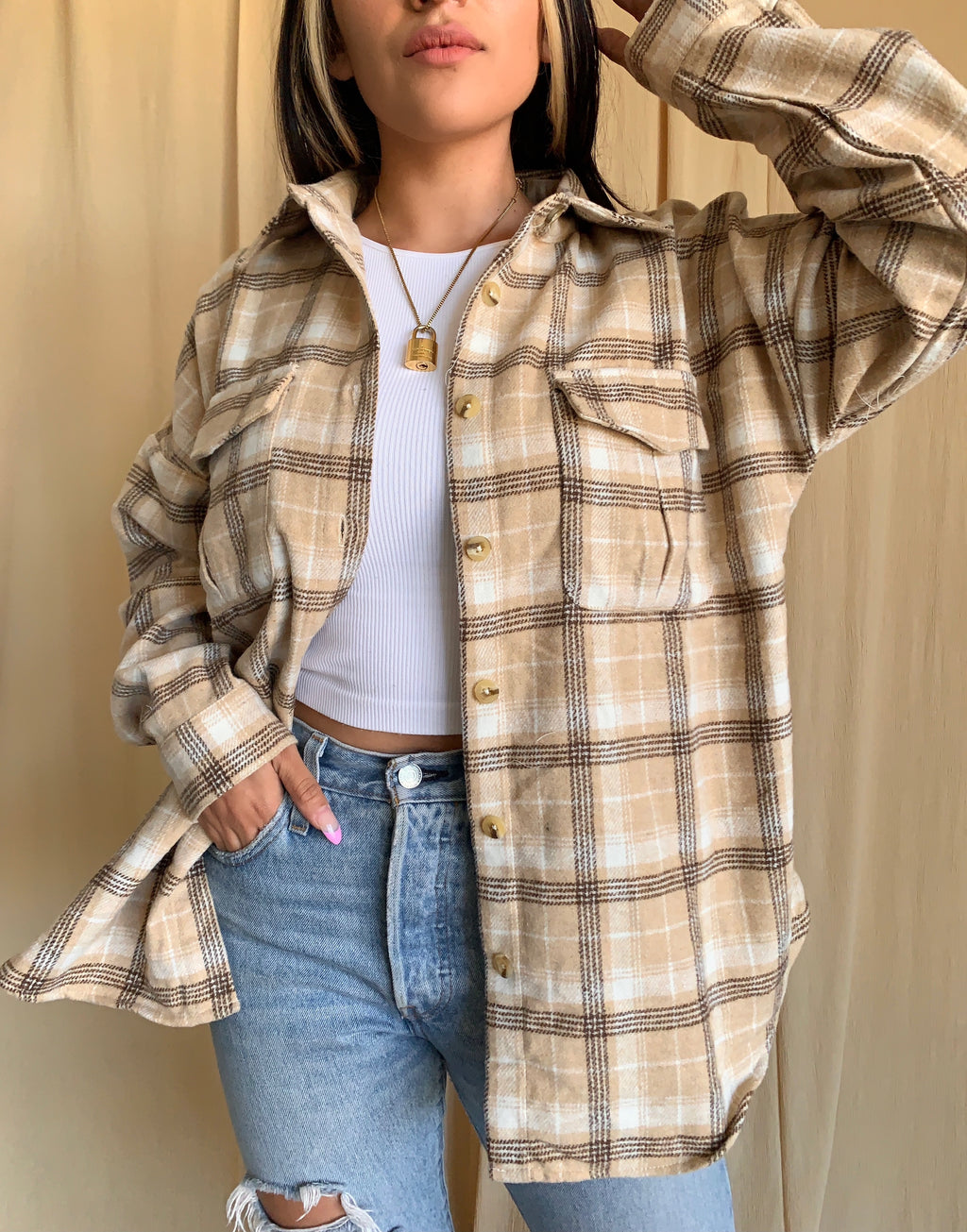 Cafe Flannel (Beige)
