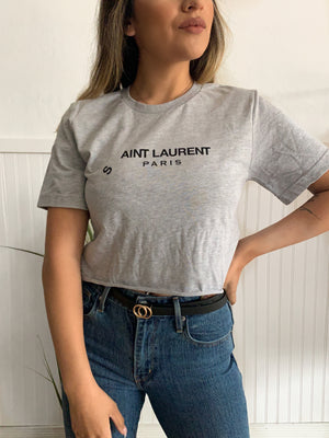 Aint Laurent Tee (H. Grey)