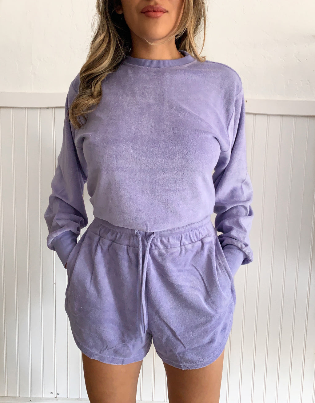 French Terry Crewneck (Lavender)