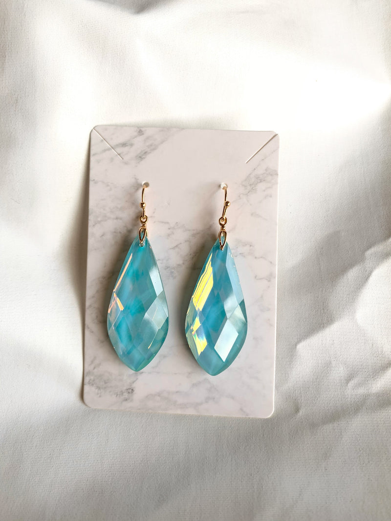 Tear Drop Earring (Lt. Blue)