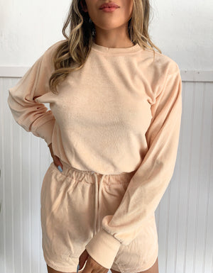 French Terry Crewneck (Blush)