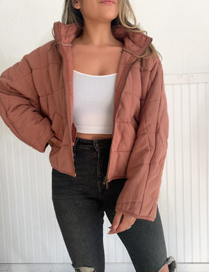 Quilted Jacket (Mauve)