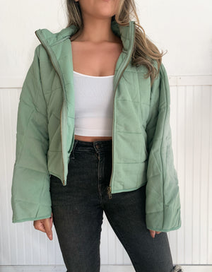 Quilted Jacket (Sage)