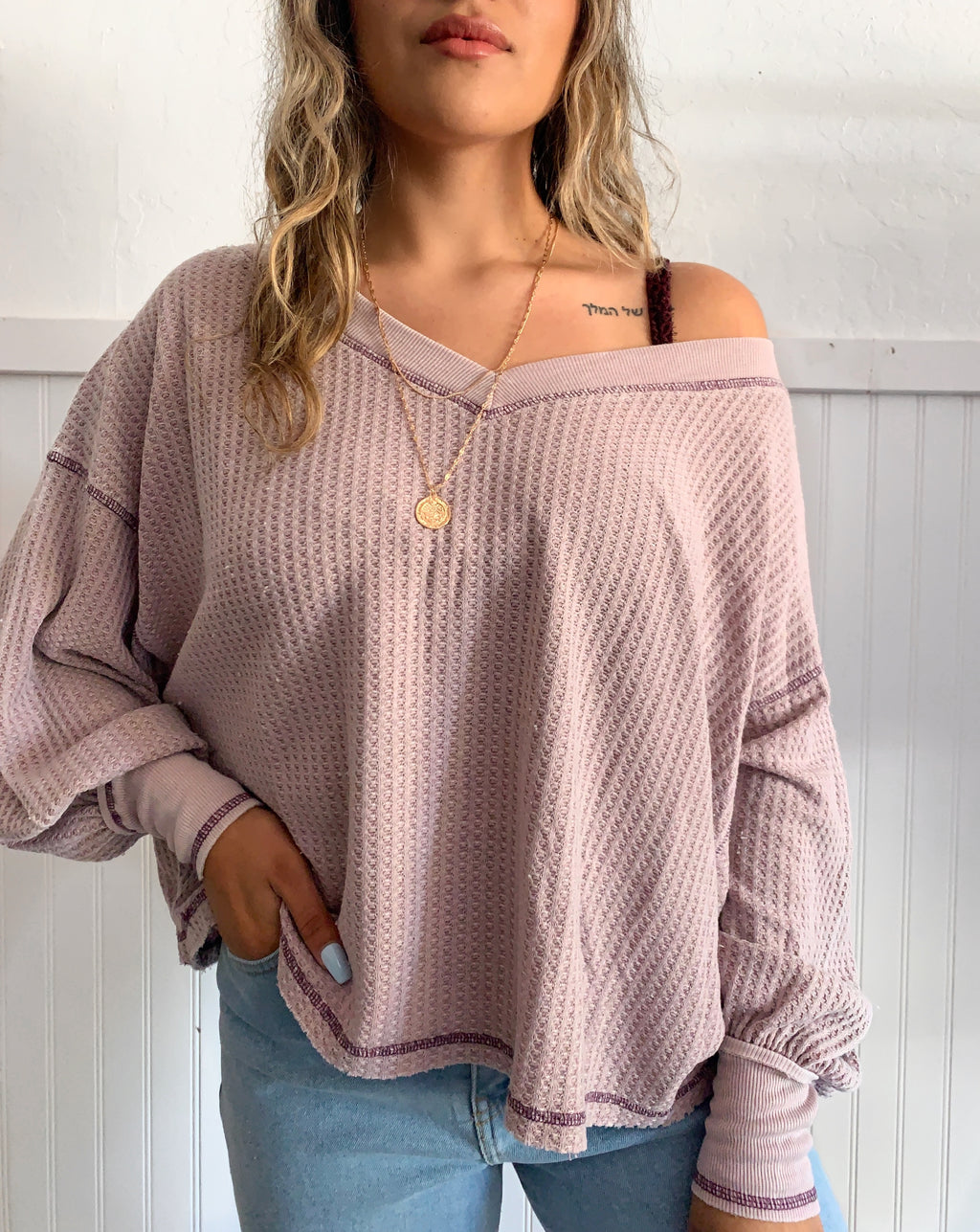 Whitney Knit Top (Lavender)
