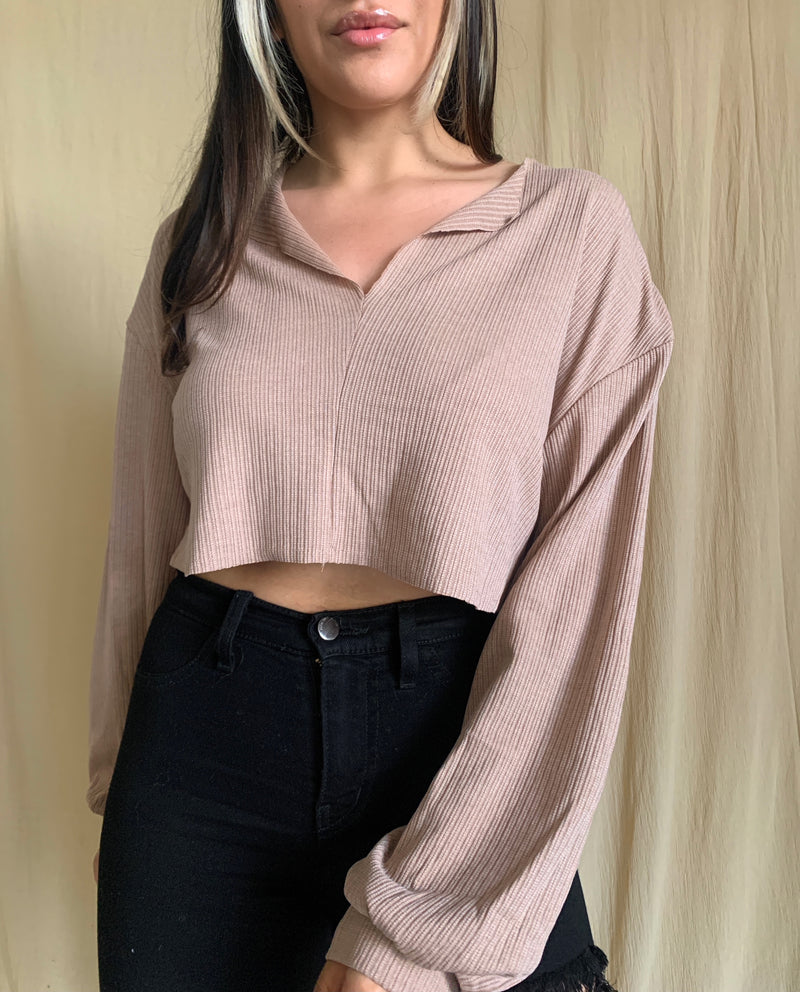 Maya Long Sleeve (Taupe)