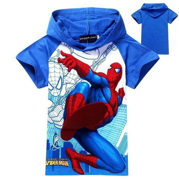 Spider man Hooded Tee - Charis Kids Boutique,   - Kids clothes