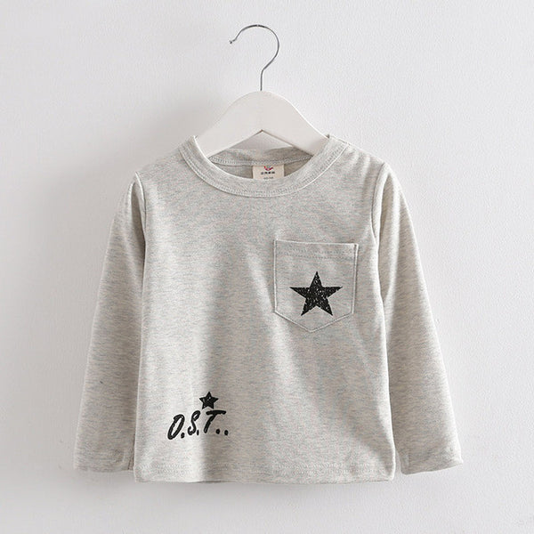 Long Sleeve Star T-Shirt - Charis Kids Boutique,   - Kids clothes
