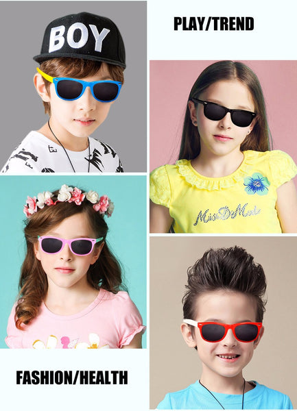 Polarized Kids Rubber Sunglasses UV400 - Charis Kids Boutique,   - Kids clothes