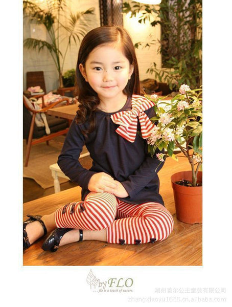 Girls Bow Top Fall Set - Charis Kids Boutique,   - Kids clothes