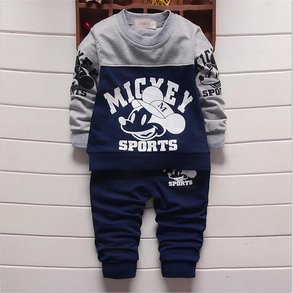 Mickey Sports Baby Sweatsuit - Charis Kids Boutique,   - Kids clothes
